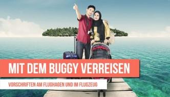 Mit dem Buggy verreisen – Vorschriften am Flughagen und im Flugzeug